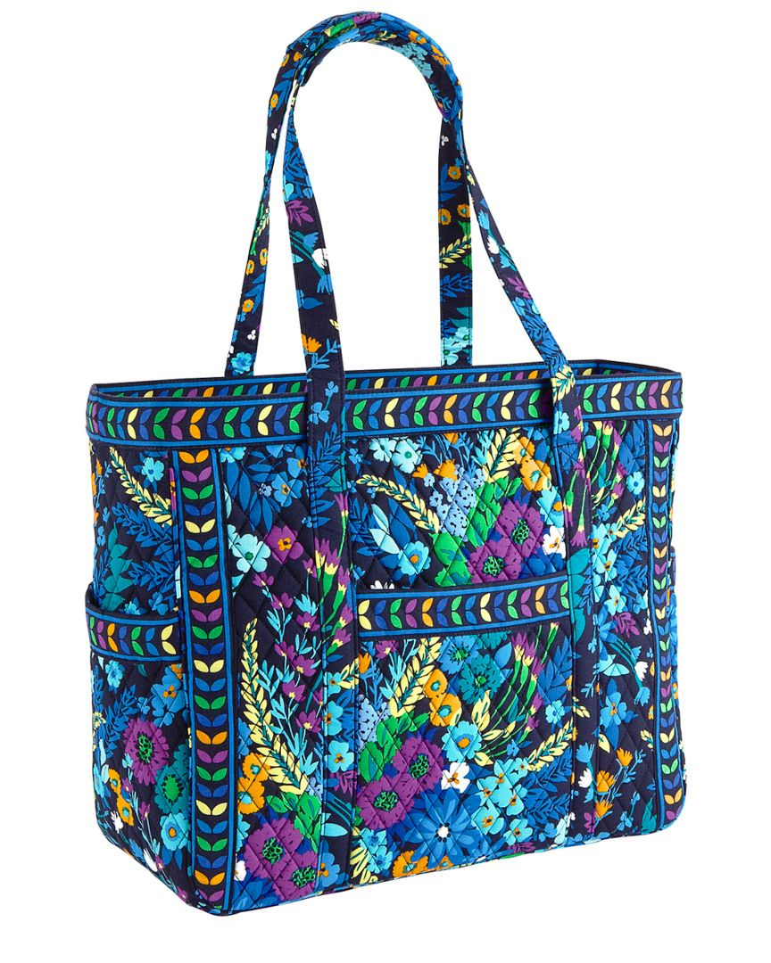 Vera Bradley Midnight Blues Get Carried Away Cotton Tote is on Rue ...
