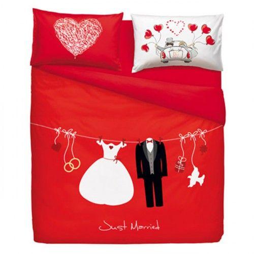 Lenzuola Matrimoniali San Valentino.Bassetti Completo Lenzuola Copriletto Matrimoniale Love Is A