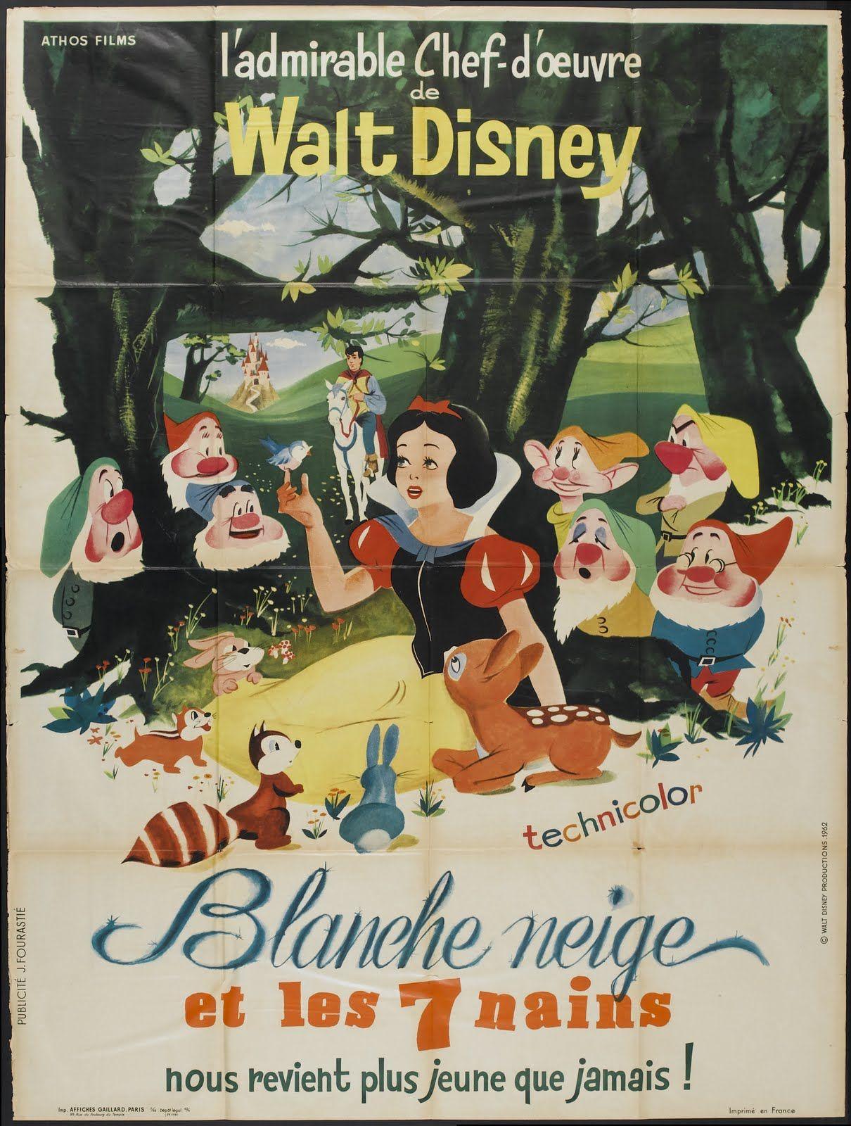 snow white vintage movie poster