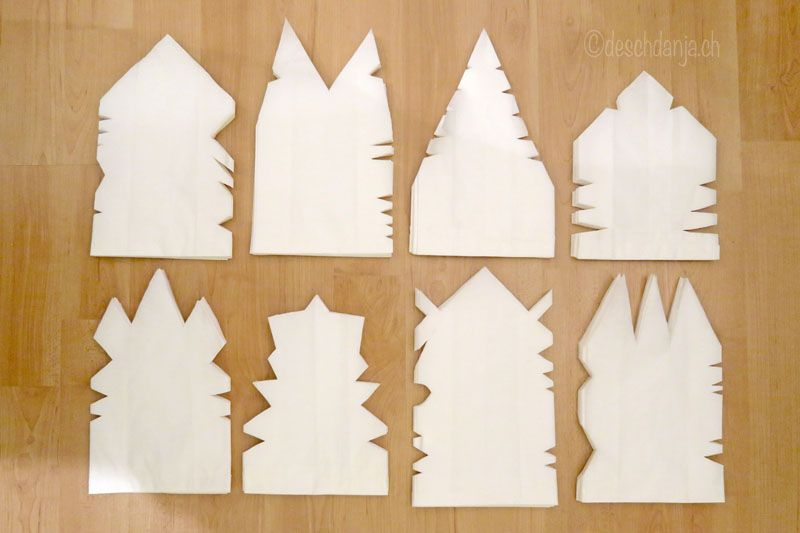 Papiertuetensterne Basteln Weihnachten Weihnachtszeit Basteln Weihnachtsstern Basteln