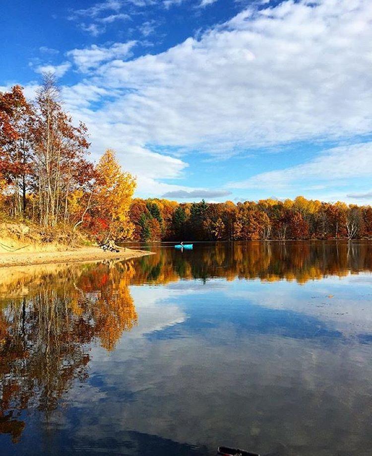 """""""Kayaking at Murphy Lake!  By @dfmichigan.usa  Millington, MI."""""""