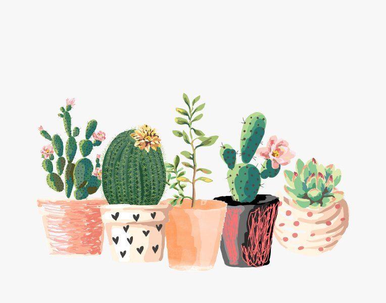 Cactus Print, Printable Art, Cactus Art, Home Decor, Potted Cactus ...
