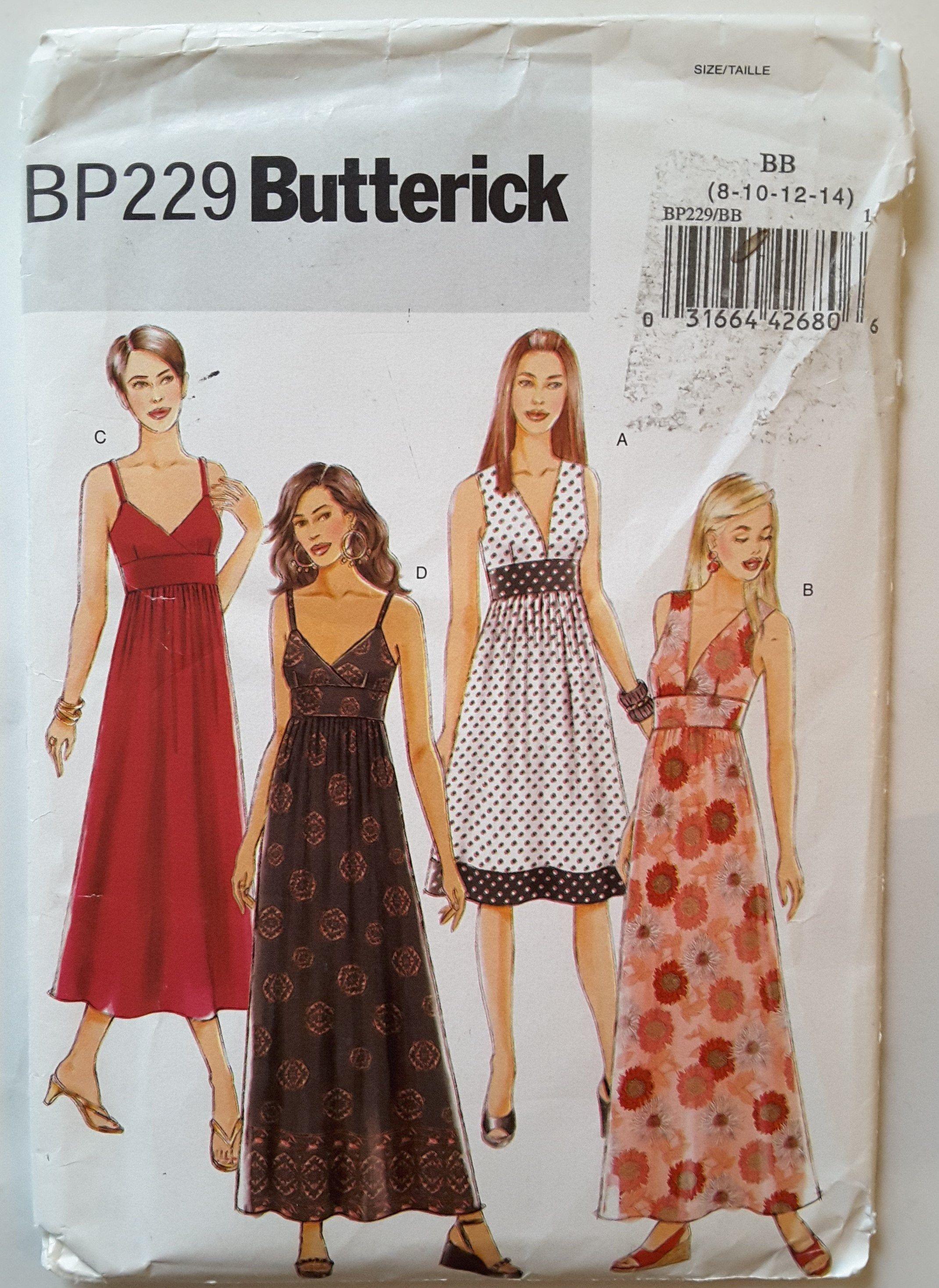 Butterick bp229 5181 fitted flared mini midi maxi