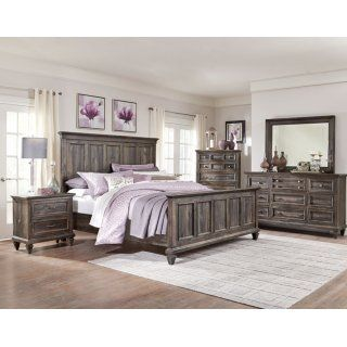 Calistoga 7-Piece King Bedroom Package - Weathered Charcoal | Living ...