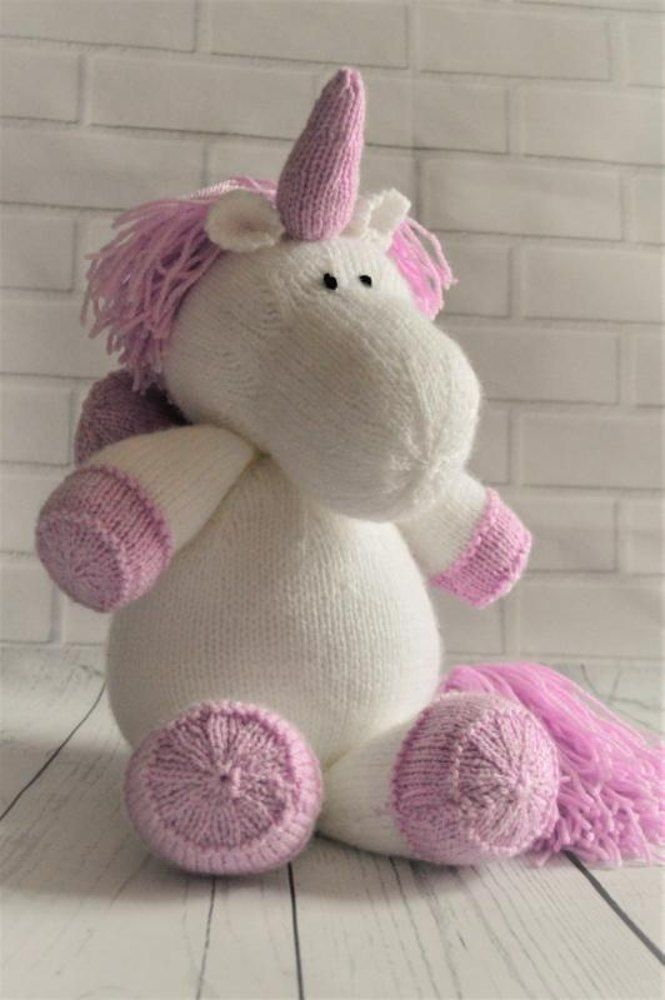 e3c55b69e4b737 Sprinkle the Unicorn knitting pattern by Knitting by Post. Download at  LoveKnitting