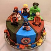 Cakes and cupcakes from Lego Avengers in Austin All his favorite avengers Le   Lego Ideas