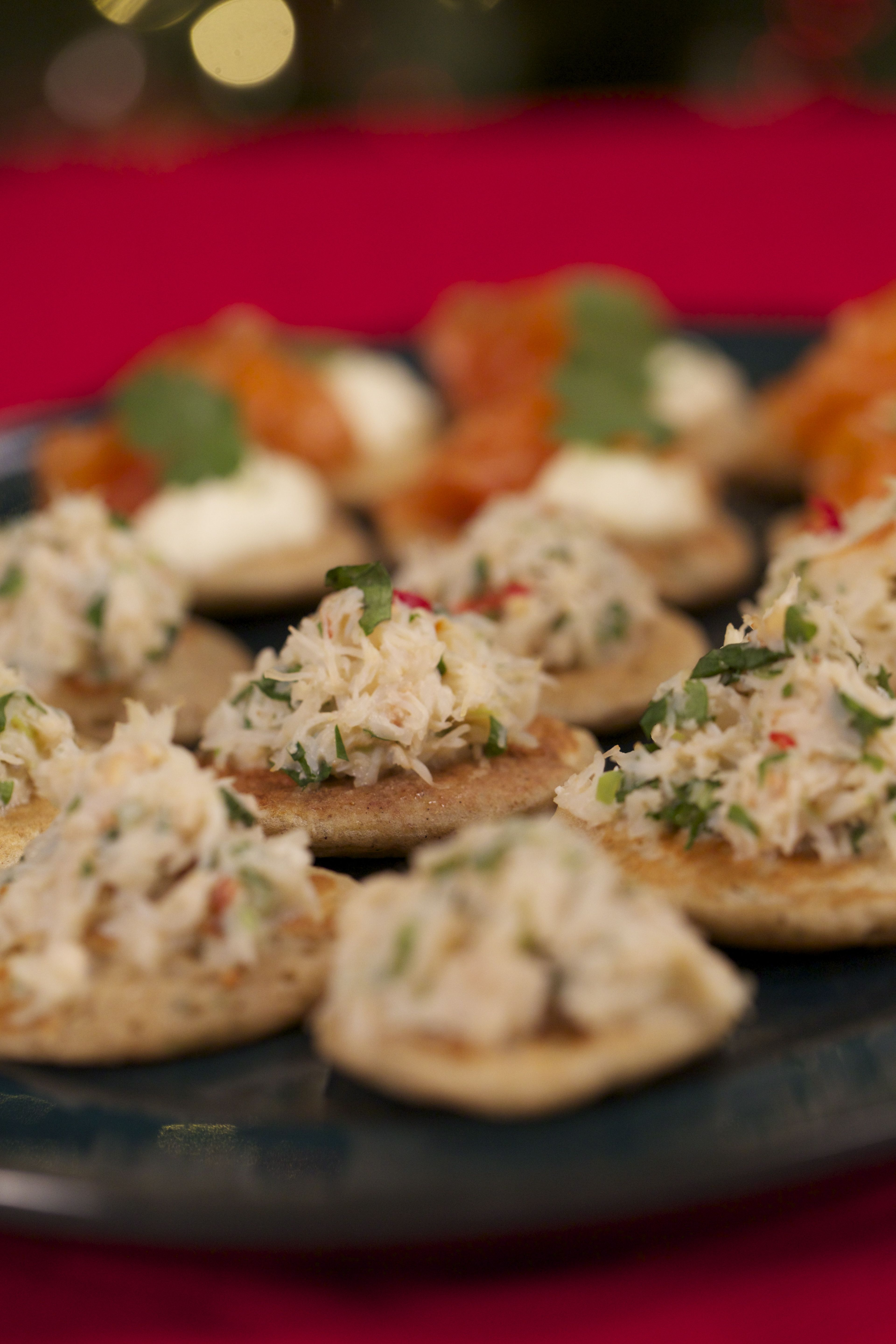 Reza mahammads spiced blinis jeni barnetts 12 chefs of christmas how to make the perfect spiced blinis with smoked salmon and tom yum coke by reza mahammad on food network uk forumfinder Choice Image