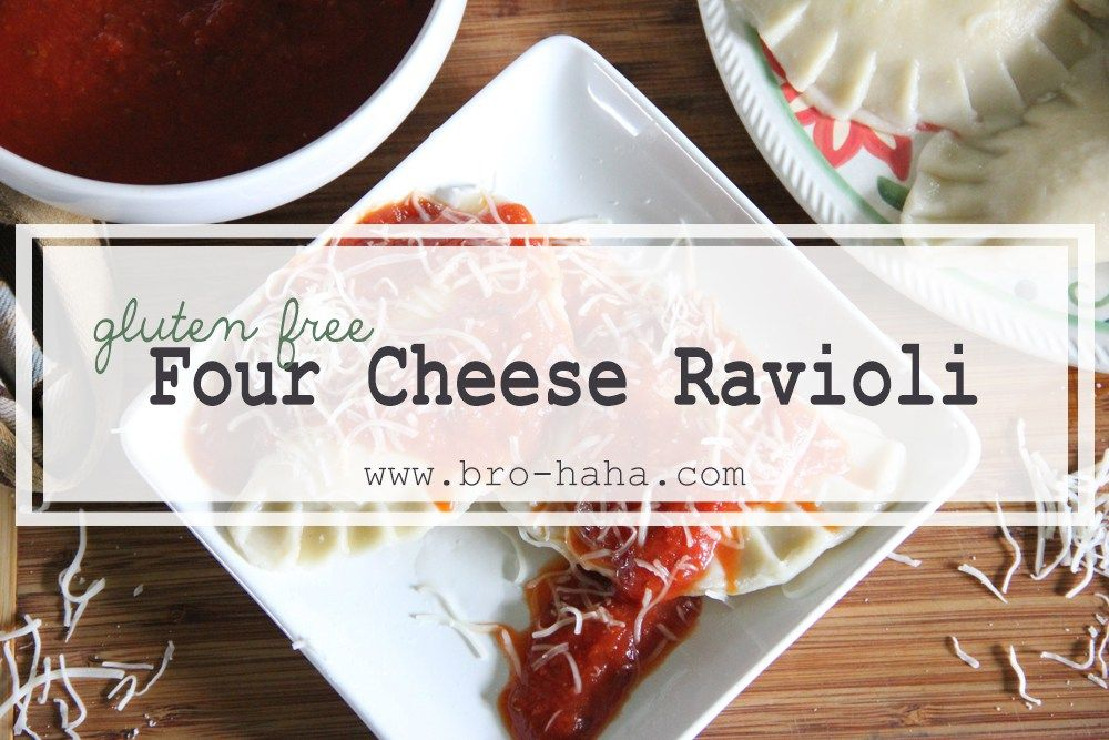 Gluten Free Four Cheese Ravioli Recipe Cheese ravioli
