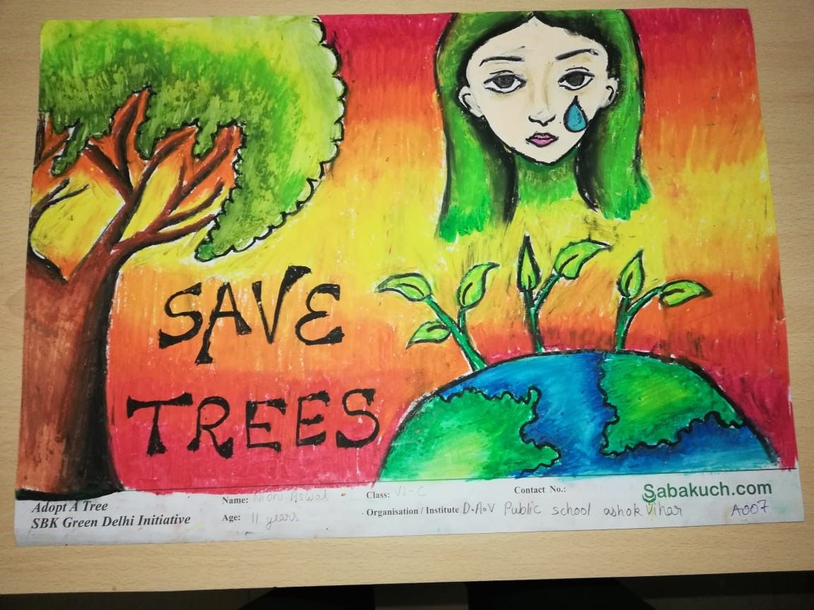 Why We Need To Save The Trees And What S Importance Of Trees In Our Life Adopt At Least One Tree As Yo Tree Drawing Drawing Competition Art Drawings For Kids