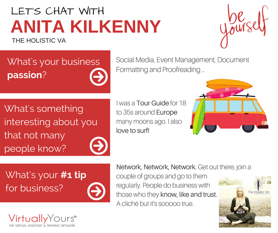 We had a chat with Anita Kilkenny from The Holistic VA and this is what she had to say! #vasrock #notjustava #surferchick #networking