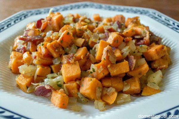 Bacon Sweet Potato Hash Recipe - Domestic Soul