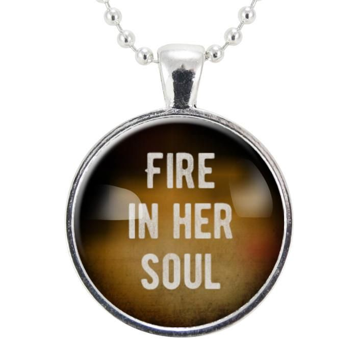 Fire in her soul necklace feminist pendant women empowerment fire in her soul necklace feminist pendant women empowerment jewelry aloadofball Choice Image