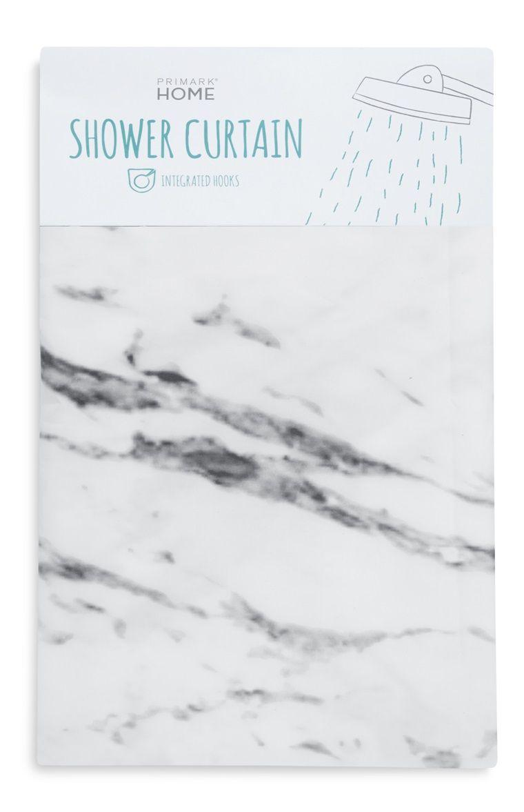 Primark - Cortina de chuveiro padrão mármore