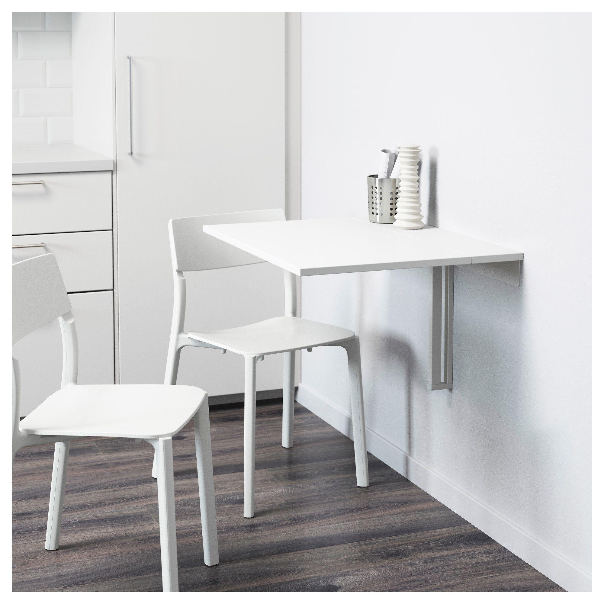 Norberg Mesa Plegable De Pared Blanco Ikea Drop Leaf Table Ikea Folding Table Ikea Wall