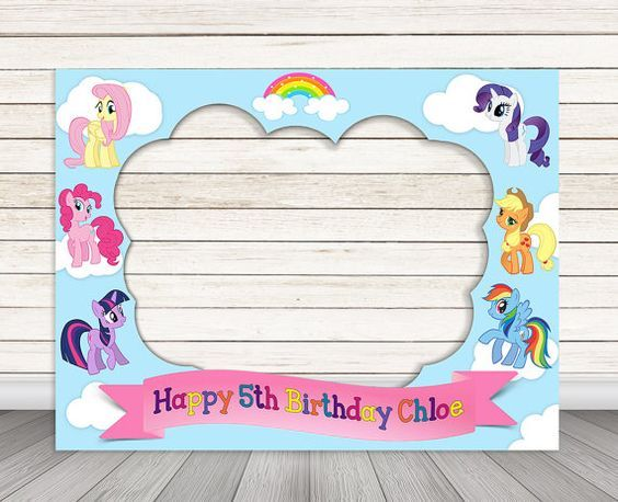 My Little Pony Birthday Party Photo Booth Frame 32 X By Happybarn