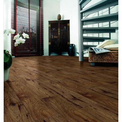 Home Decorators Collection Distressed Brown Hickory 12 Mm Thick X 6 1 4 In Wide X 50 25 32 In Length Laminate Flooring 15 45 Sq Ft Case 34074sq Laminate Flooring Flooring Hardwood Floors
