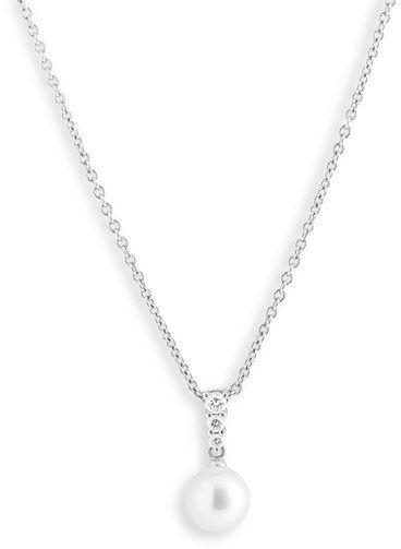 8e6c5e5b0 Mikimoto 'Morning Dew' Akoya Cultured Pearl Fine Jewelry, Nordstrom, Diamond  Pendant Necklace
