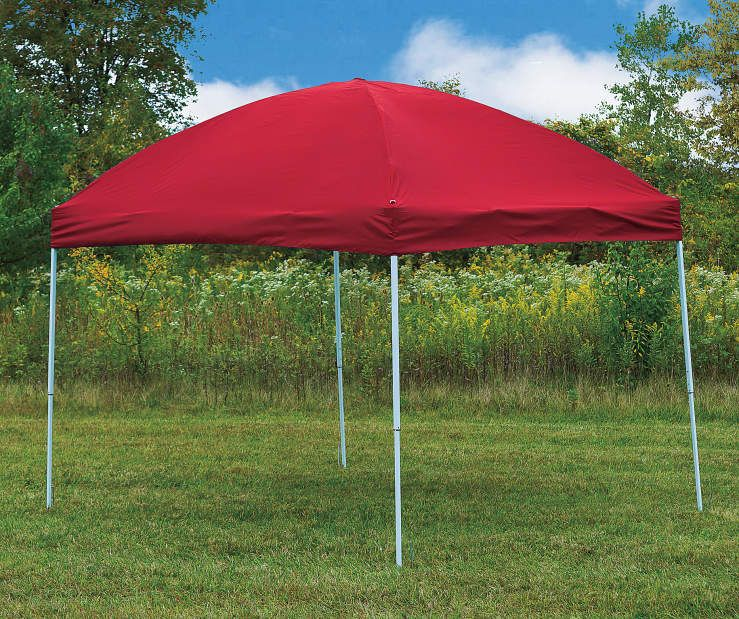 Red Pop-Up Sun Shelter, (8' x 10') at Big Lots.