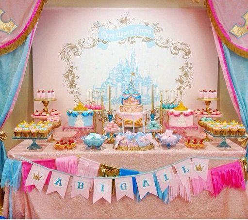Princess Party Printable Backdrop By Itsy Belle Disney Princess