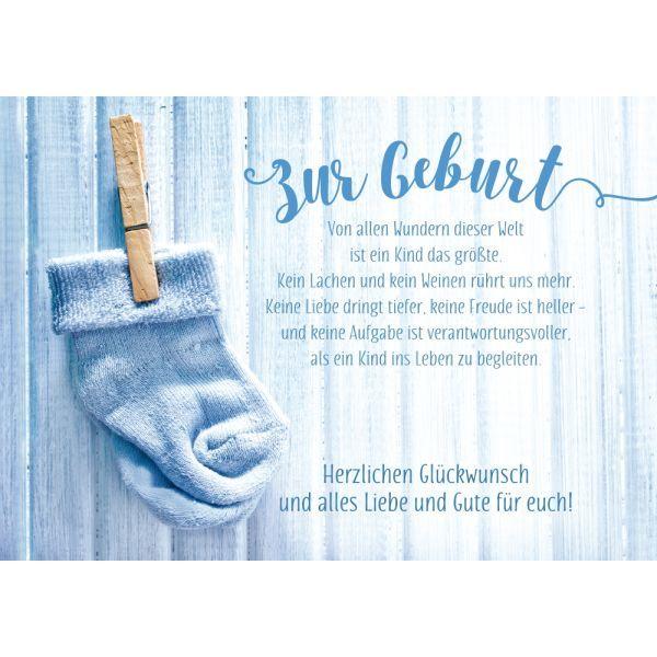 Glückwunschkarte Glückwunsch zur Geburt Klappkarte Mittelalter Wikinger