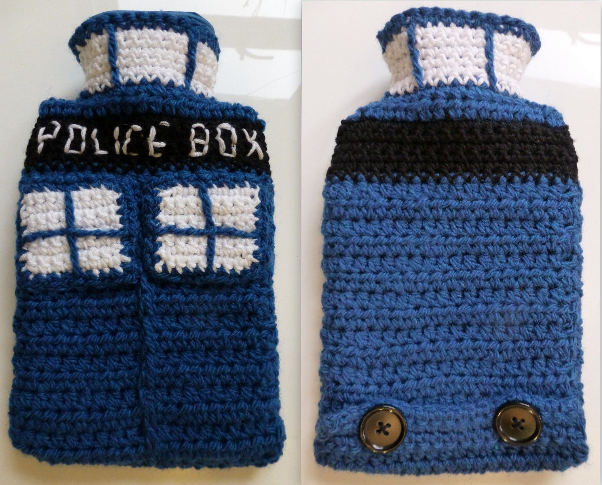 My TARDIS inspired hot water bottle - from Quirky Purple   TERMOFOR ...