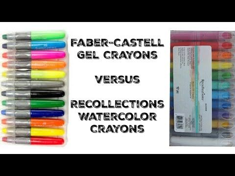 Faber Castell Gel Crayons Vs Watercolor Crayons Youtube Faber