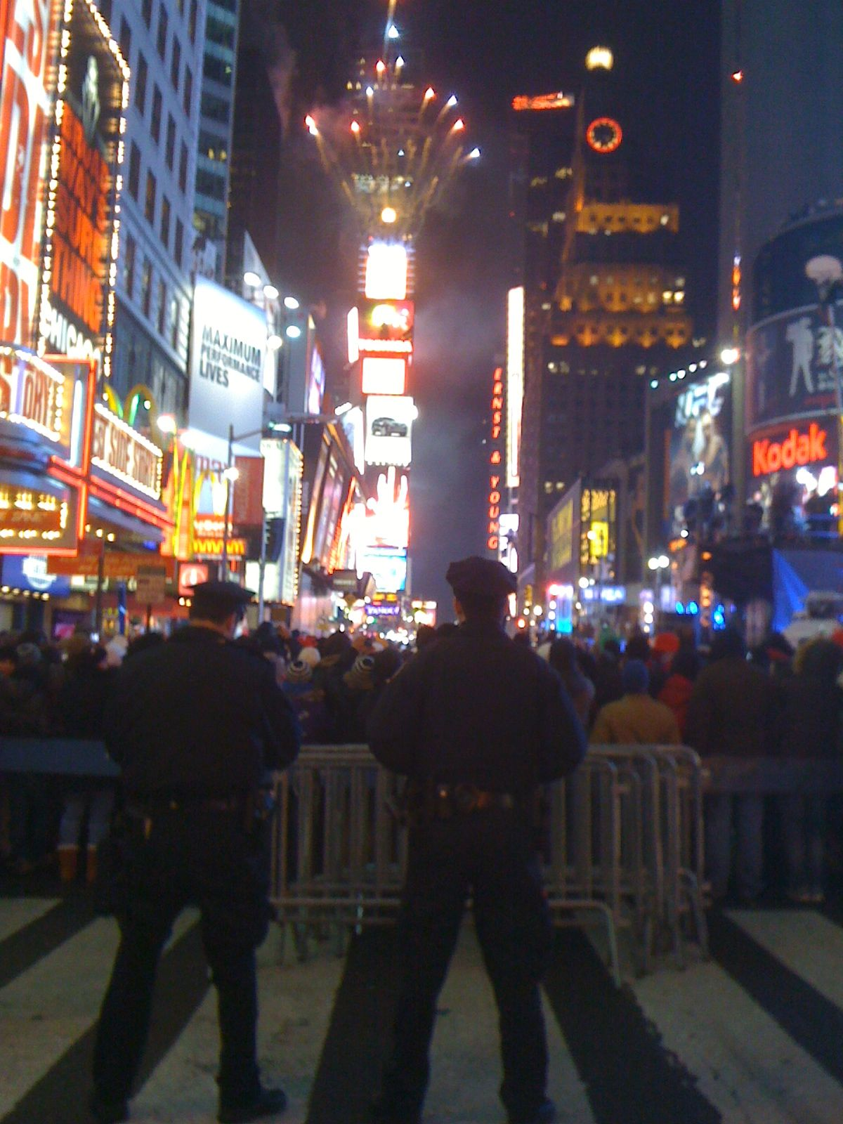 Times Square on New Years Eve