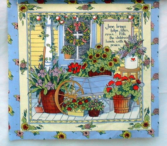 Friendship pillow panels  4 Flowers and Spring by Hard2findFABRICS