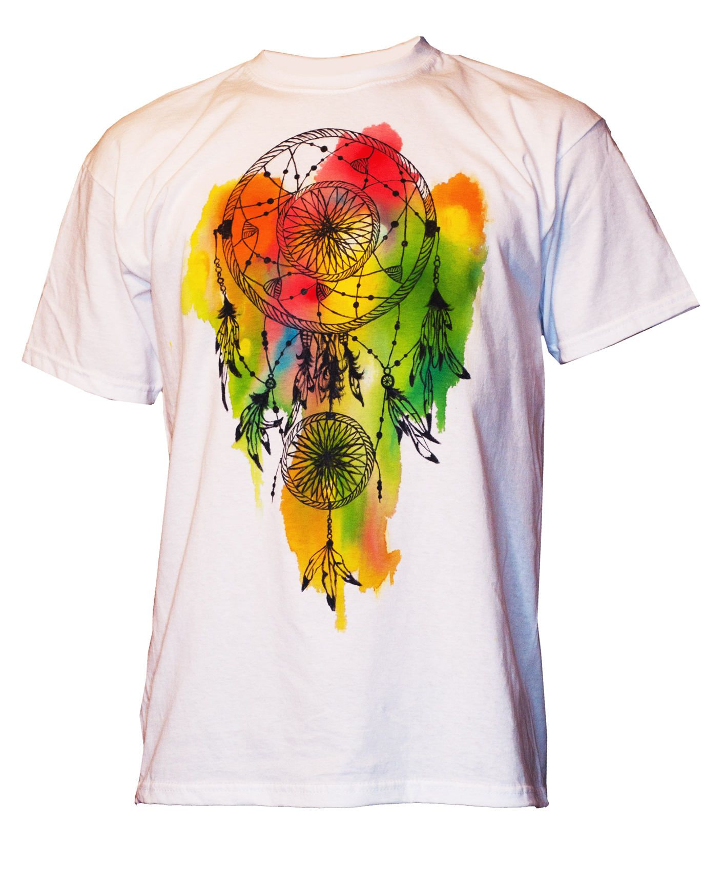 Dreamcatcher T Shirt Paint By Hand Shirt Watercolor Dreamcatcher