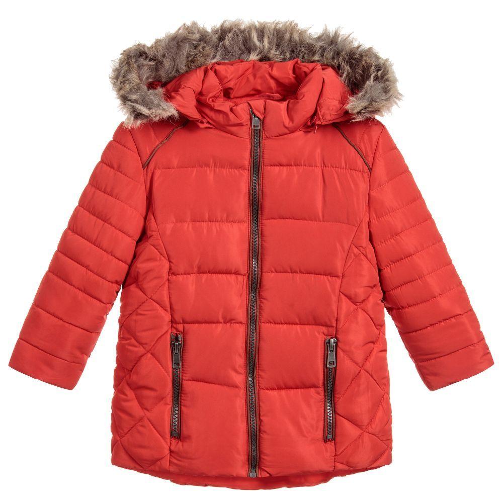4dbcdc017 Girls Red Padded Puffer Coat