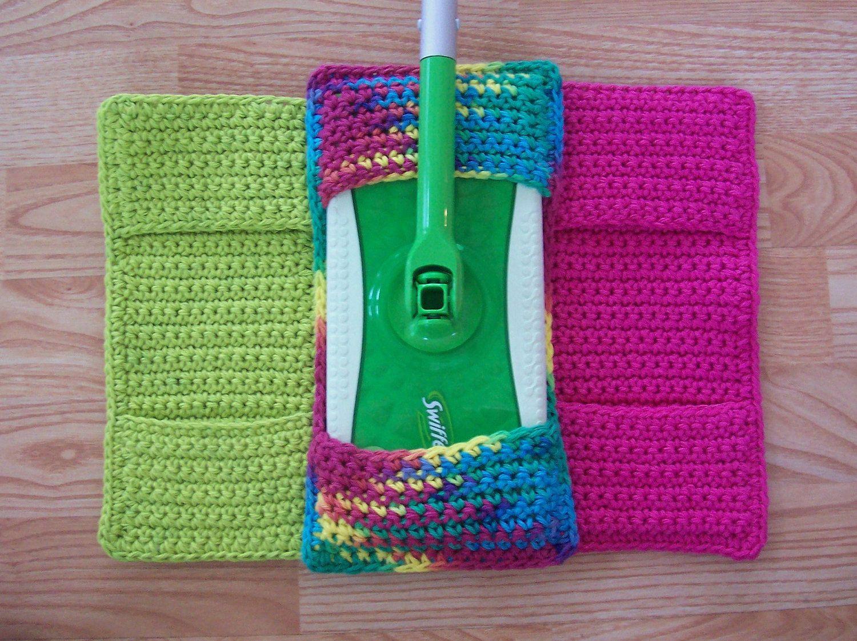 Crochet Swiffer Cover Good Idea Thinks I Need No Pattern Nor