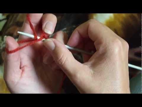 MÉTODO 4: montaje tejido con una aguja y dos hebras. Es el método que utilizo  muy a menudo, queda muy bien para el empiece.
