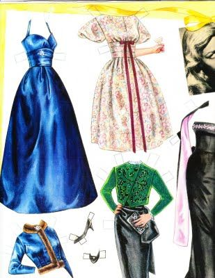 Clothes for the Lauren Bacall paper doll by Marilyn Henry
