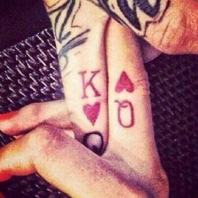 matching relationship tattoos king and queen