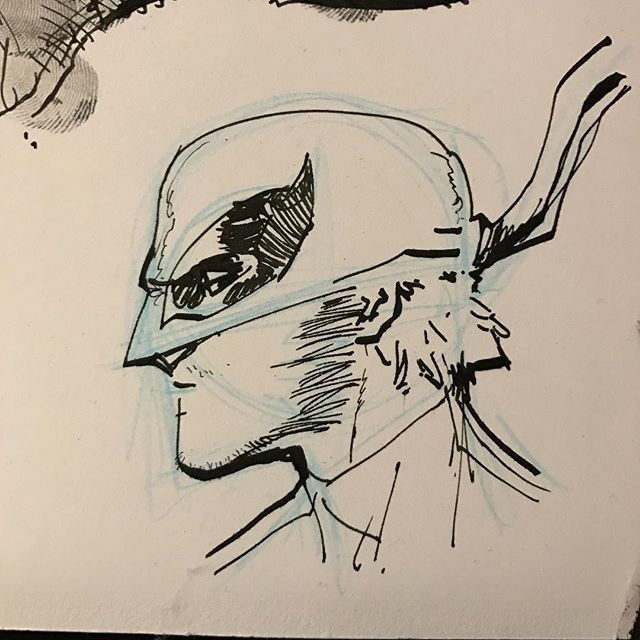 Iron Fist by David Marquez #ironfist #warmup #sketch #comics #comicart #pencils #ink #inktober #marvel #netflix #waterman #fountainpen