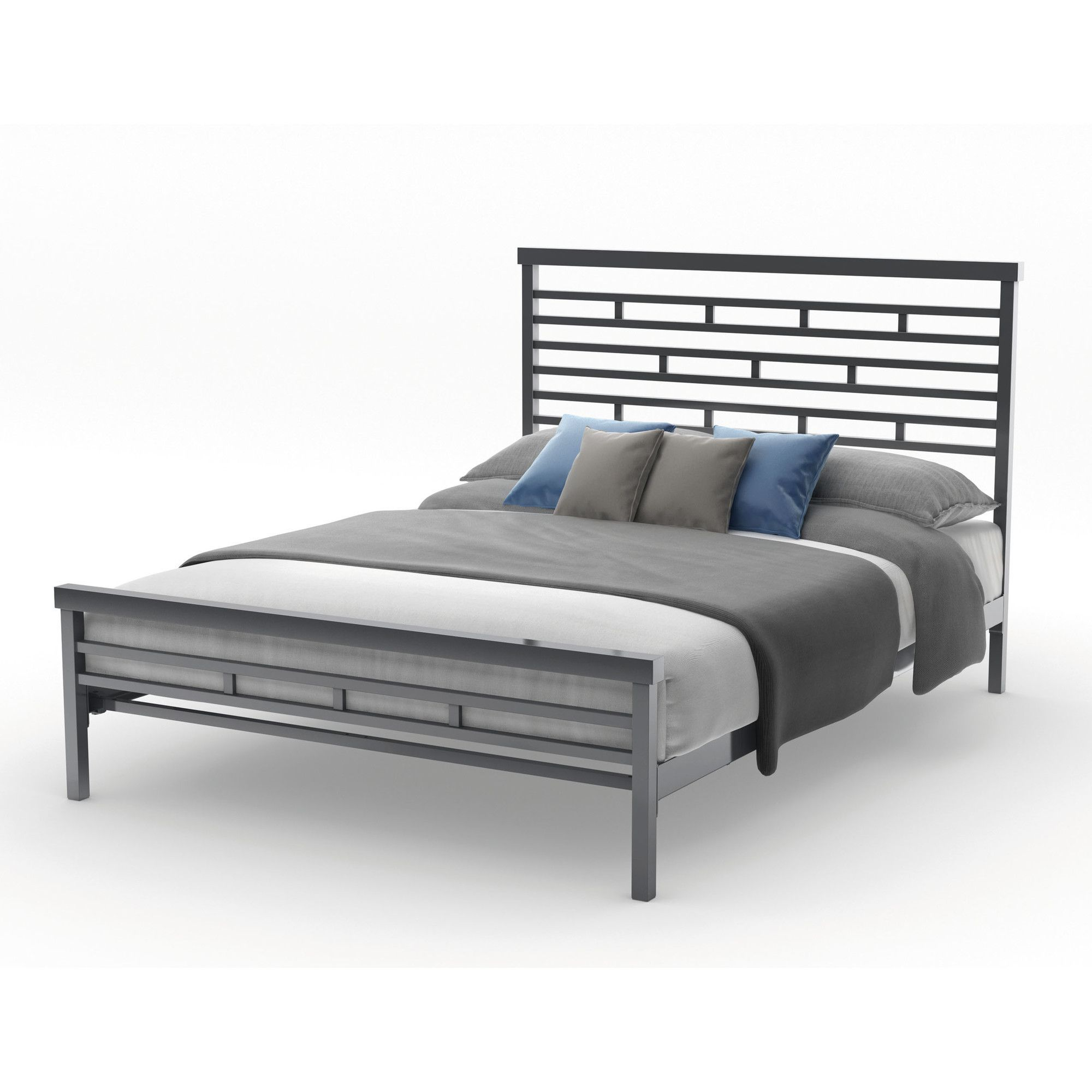 HighWay Steel Headboard and Footboard Full size bed