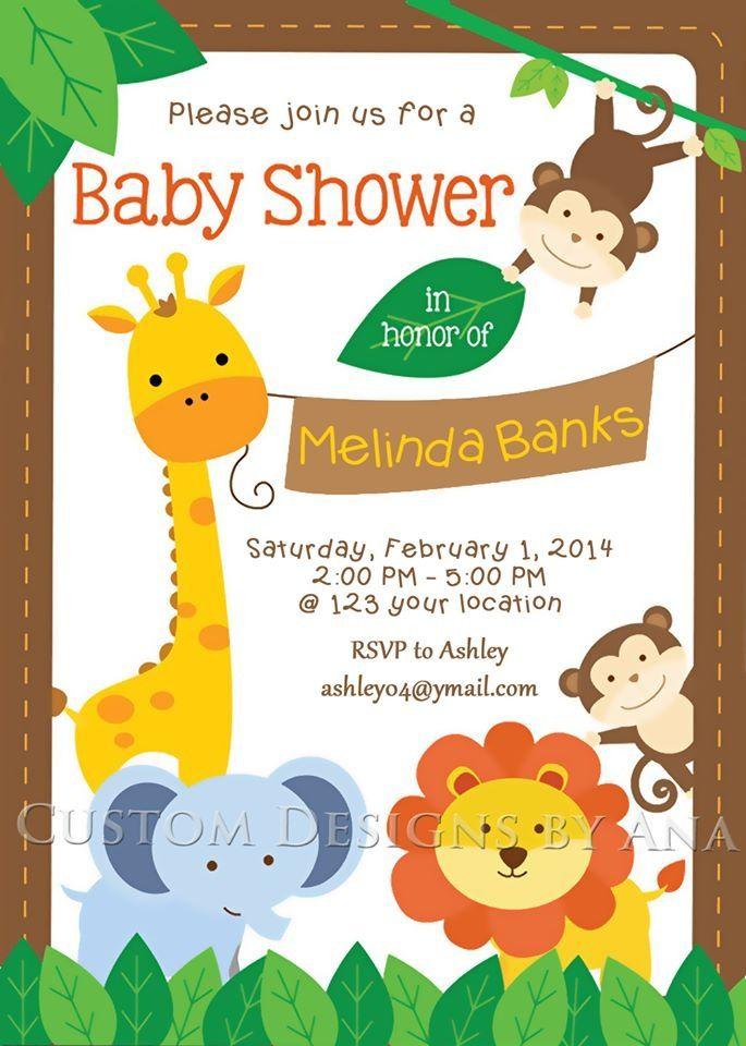 Safari Baby Shower Www Facebook Com Custom Designs By Ana