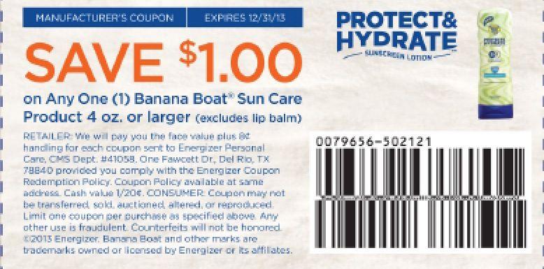 Banana boat coupon expires 12/31/13