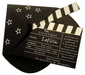 Faire Part Original Texte Pour Mariage Theme Cinema Hollywood