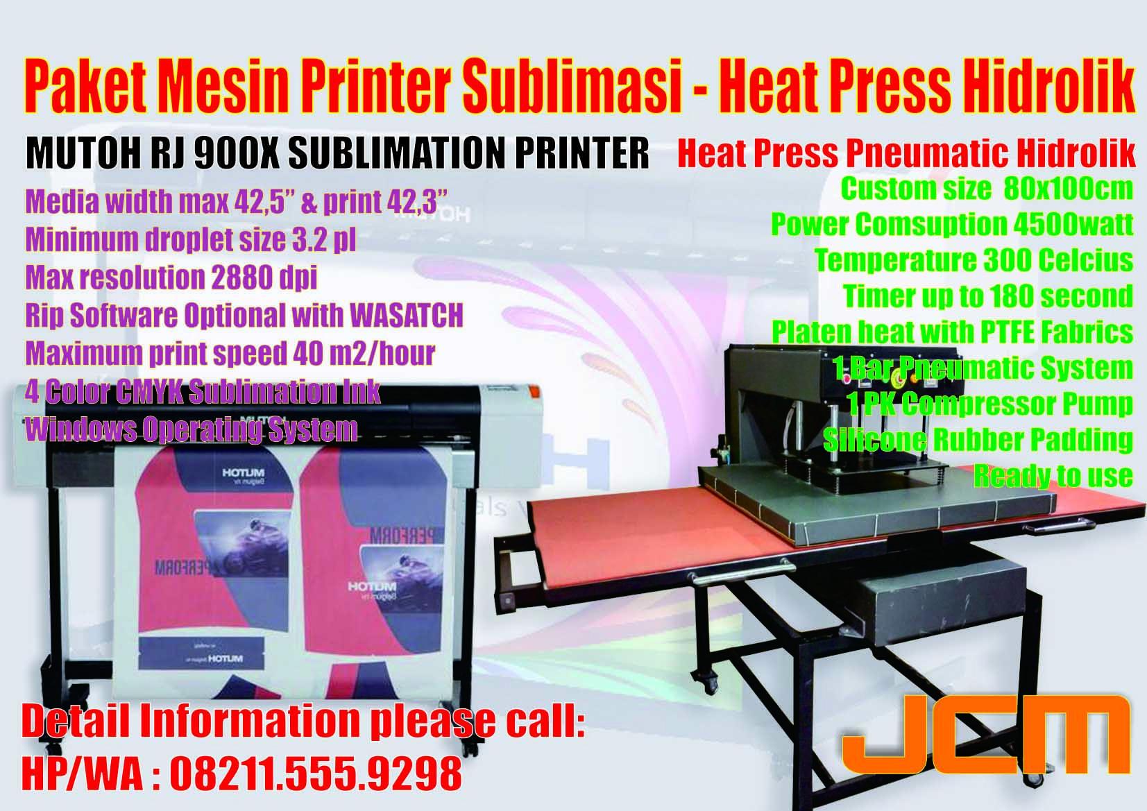 JUAL MESIN PRINTER HARGA SUBLIM SUBLIME SUBLIMASI EPSON FC6270 MUTOH RJ 900X