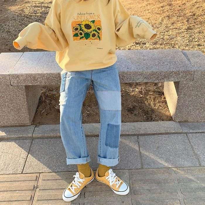 Sunflower Sweatshirt #grungeoutfits Sunflower Sweatshirt aesthetic outfit soft g... #Fashion #autumn fashion #edgy fashion #fashion #fashion classy #fashion outfits #fashion photography #fashion summer #fashion teenage #fashion trends #minimalist fashion #spring fashion #vintage fashion