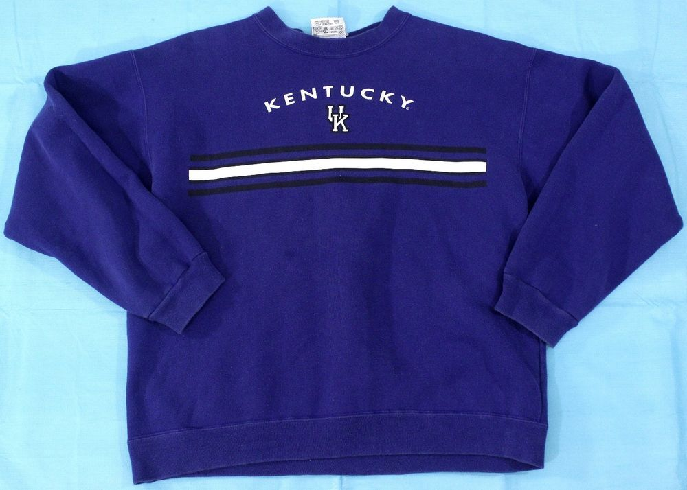 VIntage Kentucky Sweatshirt Black Blue Sz L USA MADE Pullover Crewneck Wildcats #TeamEdition #Sweatshirt