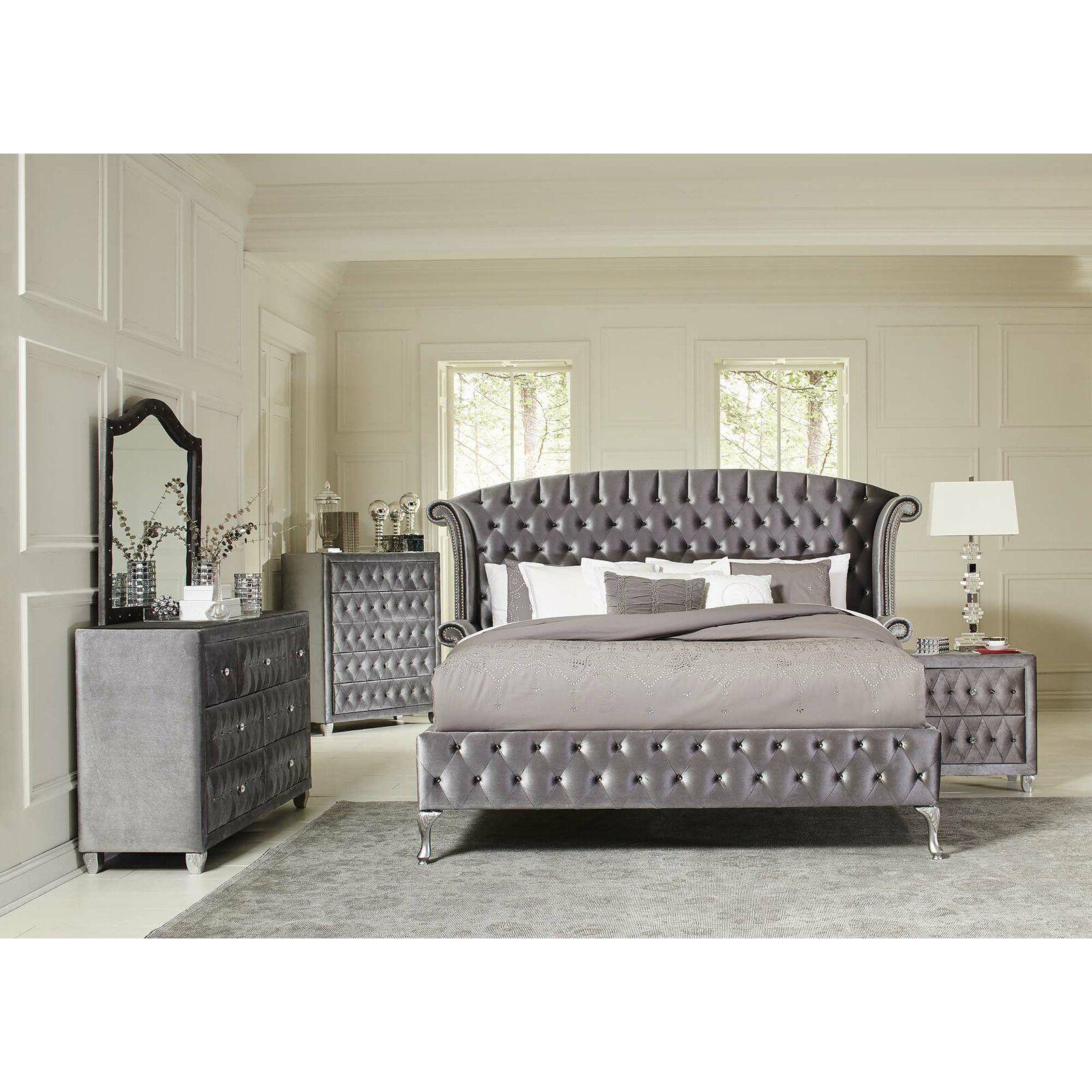 Burlingame Platform Configurable Bedroom Set Upholstered