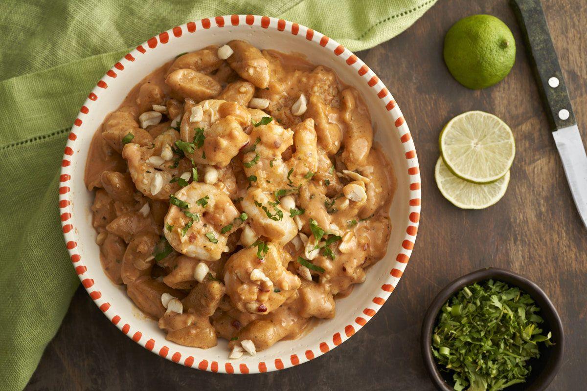 Kopytka Z Batatow Z Krewetkami W Tajskim Curry Przepis Zobacz Na Przepisy Pl Recipe Food Meat Chicken