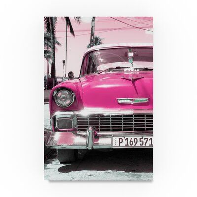 Trademark Fine Art 'Chevy Classic Car' Photographic Print on Wrapped Canvas in P…