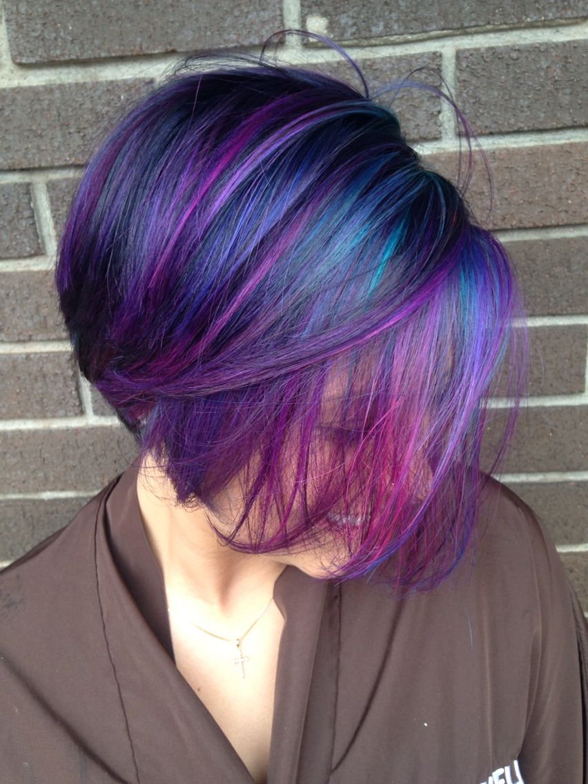 Galaxy Galaxy Hair Color Hair Styles