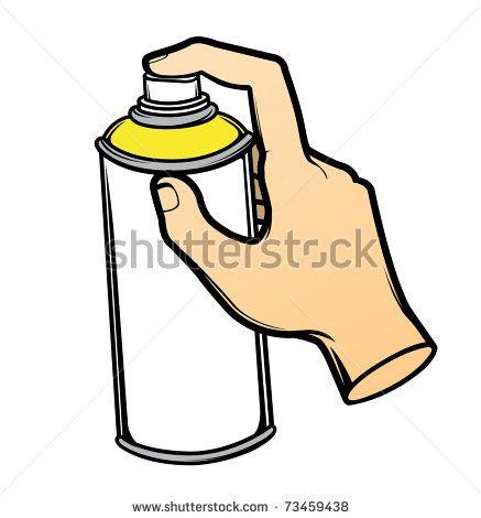vector hand holding graffiti spray can 73459438 shutterstock rh pinterest nz