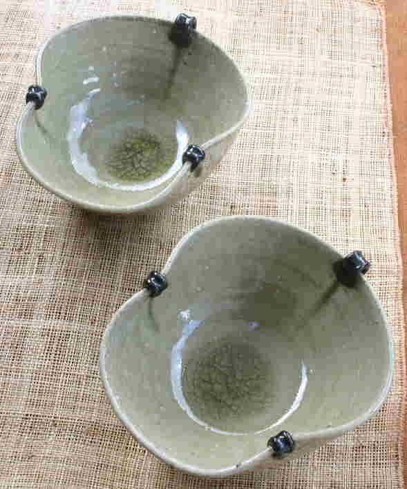 Japanese Pottery Bowls (made by Morishita Ikuo)