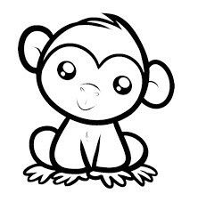 Pin by Toni Hastings on Graphics ♏ Monkey drawing cute