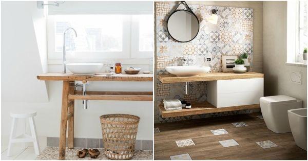 Muebles de baño de madera Muebles de madera para baños